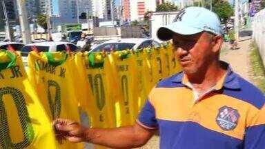 Clima de Copa ocupa as ruas de Fortaleza - Confira mais notícias em g1.globo.com/ce