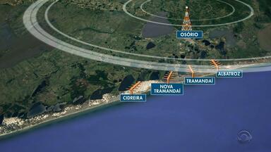 Instalação de nova antena deve melhora a qualidade do sinal de televisão no litoral do RS - Assista ao vídeo.