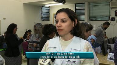 Campanha de vacinação contra a gripe foi prorrogada para o dia 23 de junho - O horário de funcionamento da Secretaria de Saúde é das 7h às 15h, de segunda a sexta-feira.