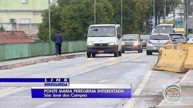 Ponte Maria Peregrina vai ficar completamente interditada no fim de semana - Local passa por obras.