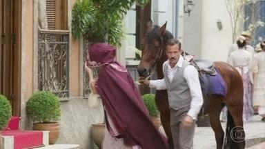 Brandão leva Josephine a um hotel - Agatha vê e fica intrigada com a mulher que acompanha o Coronel