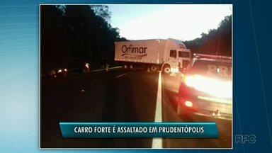 Carro forte é assaltado em Prudentópolis - Equipes de três postos da PRF estão no local.