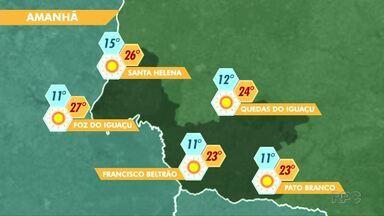 Tempo volta a ficar firme na região - Veja a previsão no mapa.