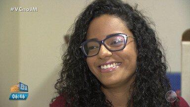 Superação: jovem que venceu um câncer fala sobre o tratamento para não perder cabelo - Mariana Sebastião conseguiu manter os cabelos durante o tratamento contra o câncer.