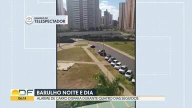 Durante quatro dias, alarme de carro toca em Águas Claras - Carro estava abandonado. Dono do veículo não apareceu para desativar alarme , que de tanto tocar, se desativou sozinho.