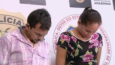 Pastor e missionária são presos suspeitos de matar homem, no AM - Vítima estaria envolvida em suposto triângulo amoroso.Outro casal suspeito de participar do crime é procurado pela polícia.