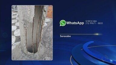Veja as reclamações enviadas para o WhatsApp da TV TEM nesta quinta-feira - Veja as reclamações enviadas pelos telespectadores para o WhatsApp da TV TEM nesta quinta-feira (21).