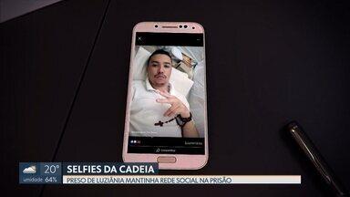Preso de Luziânia mantinha rede social na prisão - Administração da penitenciária mandou o preso para o isolamento e disse que vai investigar como ele teve acesso ao celular.