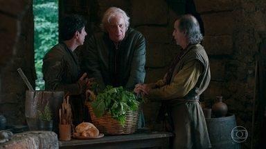 Augusto diz a Héber que deseja que Catarina pague pelo mal que fez - Recuperado, o rei deseja ir embora da casa de Héber
