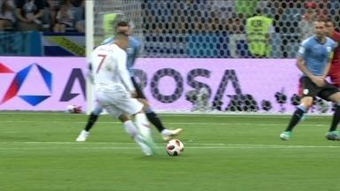 9ac31ff9a3e3b 05  1º tempoLance ImportanteCristiano Ronaldo recebe de Bernardo Silva e  bate para defesa de Muslera aos 5 do 1º tempo