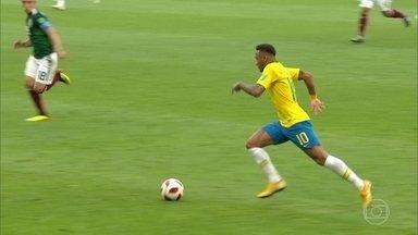 Quebra de ritmo na corrida de Neymar ajuda no segundo gol do Brasil - Quebra de ritmo na corrida de Neymar ajuda no segundo gol do Brasil