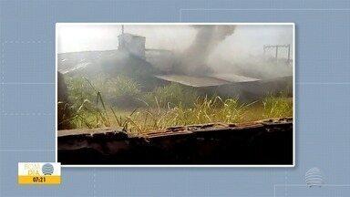 Causa de incêndio em fábrica de produtos de plástico em Dracena é investigado - Ao todo, foram usados 25 mil litros de água no combate às chamas.