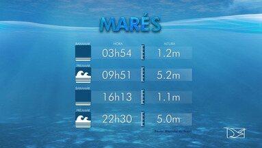 Confira as variações da maré para o Maranhão - Veja as variações desta terça-feira (3).