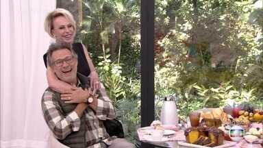 Ana Maria Braga recebe Nelson Freitas na Casa de Cristal - Humorista diz que só acorda cedo se for para participar do 'Mais Você'