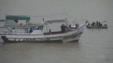 Marinha inspeciona embarcação recuperada após roubo em Caiena - Veículo foi apreendido na fronteira de Oiapoque com a Guiana Francesa durante uma fiscalização. Embarcação foi inspecionada e agora um inquérito será aberto para apurar a situação. A Polícia Federal acompanha o caso