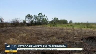 Tempo seco coloca Itapetininga, no interior de SP, em estado de alerta - Cidade enfrente maior seca dos últimos 18 anos.