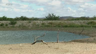 Apesar das chuvas, alguns açudes e barragens do Sertão não foram totalmente cheios - Agricultores estão preocupados com a plantação e a criação de animais.