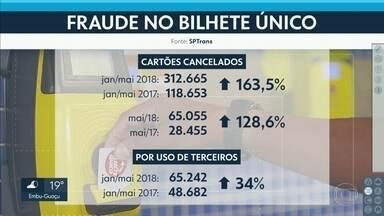 SPTrans cancelou mais de 300 mil cartões de Bilhete Único por fraude - Cancelamentos ocorreram de janeiro a maio deste ano. Aumento nos casos foi de 163% em relação ao mesmo período de 2017.