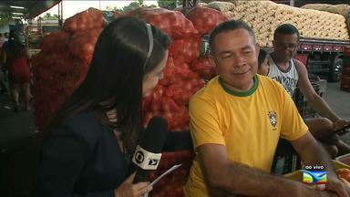 Torcedores em São Luís se animam para partida da Seleção Brasileira - Brasil joga nesta sexta-feira (6) contra a Bélgica pela quartas de final da Copa do Mundo.