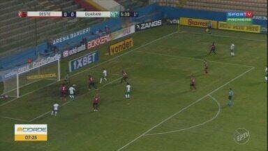 Guarani vence o Oeste pela 14ª rodada do Brasileiro da Série B - Confira como foi a partida.