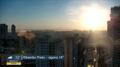 Previsão de tempo quente e seco no final de semana na região de Ribeirão Preto - Hidratação é fundamental, já que a umidade relativa do ar continua baixa.