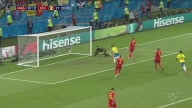 Brasil é derrotado pela Bélgica está fora da Copa - Placar foi de 2 a 1 para o time europeu.
