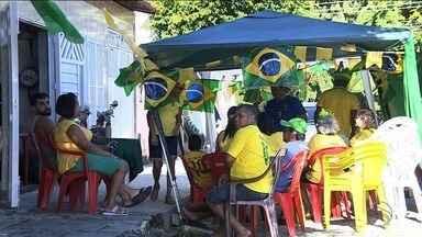 Sergipanos assistem jogo da Seleção Brasileira nas ruas - Festa terminou de um jeito que ninguém queria.