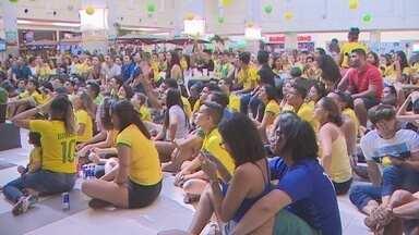 Com a derrota do Brasil, Torcida Rede Amazônica faz última promoção em shopping de Macapá - Embora a partida tenha deixado os amapaenses decepcionados, o projeto da Rede Amazônica foi sucesso durante as transmissões dos jogos da seleção brasileira.