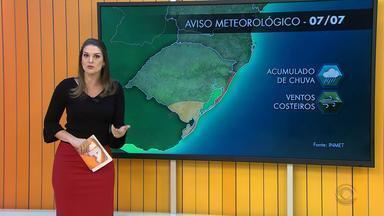 Tempo: final de semana será de tempo instável no Rio Grande do Sul - Existe possibilidade de formação de chuva congelada em alguns pontos do estado na noite de domingo e na segunda-feira.