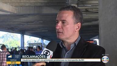 Usuários apontam os principais problemas no transporte público de Belo Horizonte - Entrevista com o diretor de Transporte público da BHTrans.