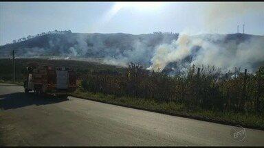 Clima seco aumenta risco de queimadas no Sul de Minas - Clima seco aumenta risco de queimadas no Sul de Minas