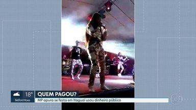 Protesto de servidores pede a saída do prefeito de Itaguaí - E o Ministério Público apura se uma festa neste fim de semana, em comemoração aos 200 anos de Itaguaí usou dinheiro público. Os organizadores negam vínculo com a prefeitura.