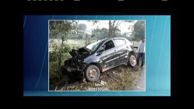 Vítima de acidente em Santa Bárbara do Leste é identificada - Veículo que ele estava bateu em uma árvore.