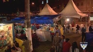 Quermesse em São Vicente ajuda projetos da Igreja Matriz - Festa oferece diversas barraquinhas com produtos típicos.