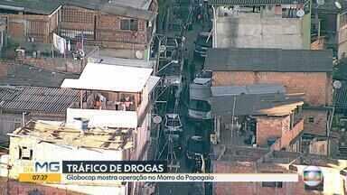 Suspeito de integrar gangue de tráfico de drogas são presos no Morro do Papagaio, em BH - Suspeito de chefiar o bando tem um patrimônio grande, segundo a polícia.