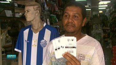 Torcedores do CSA garantem ingressos para a partida contra o Fortaleza - Bilhetes estão sendo vendidos a R$ 15, R$ 25 e R$ 100.