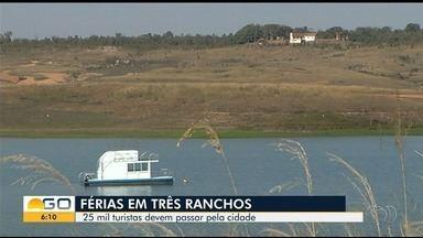 Três Ranchos espera receber até 25 mil visitantes até o fim de julho, em Goiás - Cidade é um dos principais destinos turísticos do estado.
