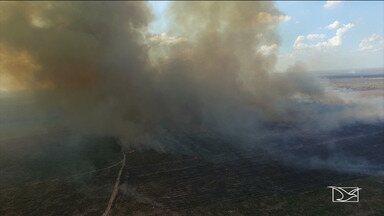 Número de queimadas aumenta em Balsas - População reclama dos incômodos que o tempo seco causa no sul do Maranhão