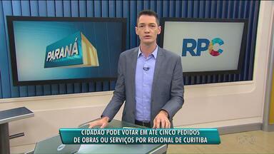 Cidadão de Curitiba pode votar em pedidos de obras ou serviços por regional - Confira como participar.