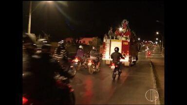 Fiéis celebram Dia de São Cristóvão em Montes Claros - Santo é protetor dos viajantes e dos motoristas.