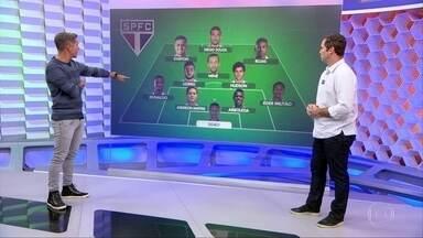Caio analisa a escalação do São Paulo que enfrenta o Grêmio - Caio analisa a escalação do São Paulo que enfrenta o Grêmio