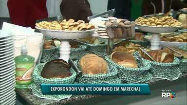 Café colonial é servido na segunda noite da Exporondon - A feira vai até domingo em Marechal Cândido Rondon.