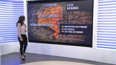 Previsão do tempo: Chorrochó tem situação de emergência decretada por falta de chuva - Bahia tem 183 municípios enfrentando dificuldades por causa da seca. Na capital, inverno também está sem chuva.