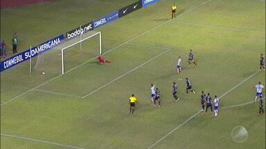 Bahia vence o Cerro, do Uruguai, e garante vantagem para o jogo de volta, dia 8 de agosto - O jogador Gilberto brilhou mais uma vez em campo e é o queridinho da torcida tricolor.