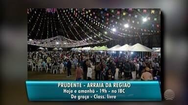 """Confira as atrações da agenda cultural para esta sexta-feira - Em Presidente Prudente, começa o """"Arraiá do IBC"""", com entrada gratuita."""