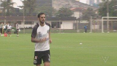 Bryan Ruiz treina pela primeira vez no CT Rei Pelé - Recém-contratado do Santos Futebol Clube, craque fez o primeiro treino com o elenco do Peixe na quinta-feira (26).