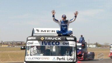 Giaffone e Roberval dominam etapa de Campo Grande da Copa Truck - Os pilotos fecharam na ponta nas duas provas deste domingo (29), no Autódromo Internacional da capital sul-mato-grossense.