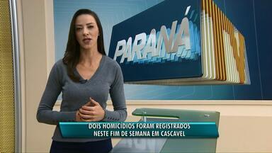 Duas mortes registradas neste fim de semana em Cascavel - Os dois casos foram registrados na região norte da cidade. Até agora ninguém foi preso.