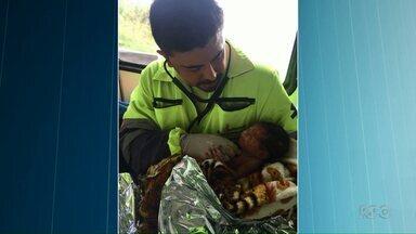 Bebê que sobreviveu a acidente no interior de São Paulo volta a Curitiba - A menina foi encontrada por socorristas e já teve alta. A mãe, de 21 anos, que estava grávida, não resistiu.