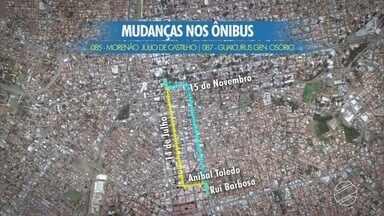 Revitalização do centro de Campo Grande provoca mudança em trajetos de ônibus - As linhas que passam pela 14 de julho vão migrar para outra rua do centro.